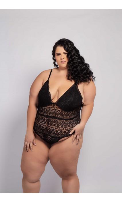 Body Renata Plus Size Preto.